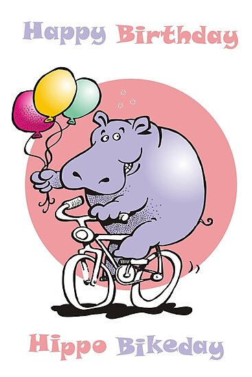 hippo on a bike by Matt Mawson