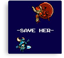 Save Her (for Dark Backgrounds) Canvas Print