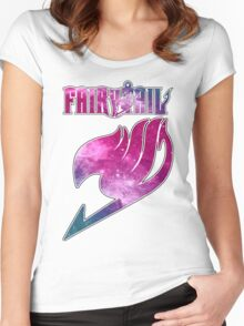 Fairy Tail - Pink Galaxy Logo Women's Fitted Scoop T-Shirt