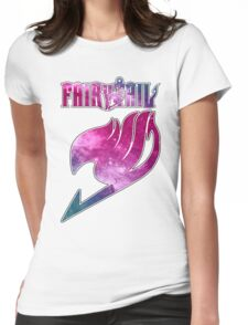 Fairy Tail - Pink Galaxy Logo Womens Fitted T-Shirt
