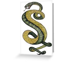 Tunnel Snakes Rule! Greeting Card