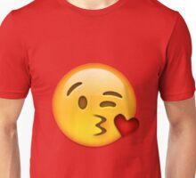 blowing kiss heart emoji Unisex T-Shirt