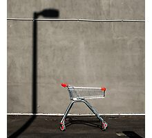Lonely shopping trolley Photographic Print