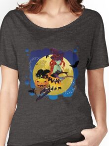 Witch and Full Moon 2 Women's Relaxed Fit T-Shirt