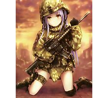 angel/tenshi, military gear Photographic Print