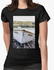 Fishing Boat In Cornwall Womens Fitted T-Shirt