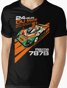 DU Mans Mazda 787B Mens V-Neck T-Shirt