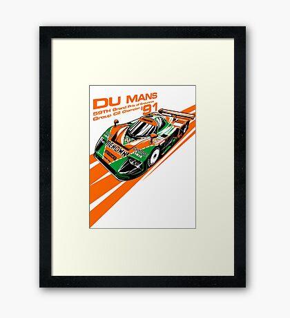 DU Mans Mazda 787B Framed Print