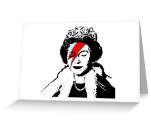 Ziggy Stardust Queen (David Bowie) Greeting Card