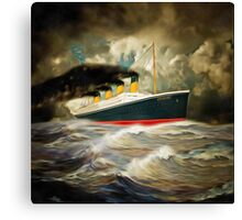 A digital painting of RMS Titanic Canvas Print