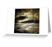 A digital painting of RMS Titanic Greeting Card