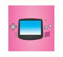 Pink Nintendo Gameboy advance illustration Art Print