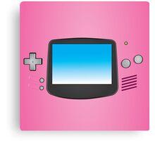 Pink Nintendo Gameboy advance illustration Canvas Print