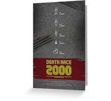 Death Race 2000 - Movie Poster Greeting Card