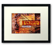 Manchester Mashup #10 Framed Print