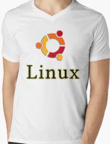 Linux Ubuntu Mens V-Neck T-Shirt