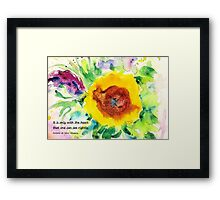Seeing rightly Framed Print