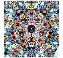 Abstract Clusters of Color Poster