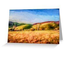 Sunset Field       (GO) Greeting Card