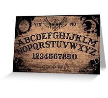 Classic ouija board Greeting Card