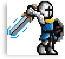 Pixel Knight Enchanded Sword Canvas Print