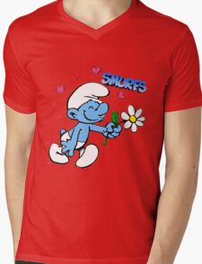 smurf Mens V-Neck T-Shirt
