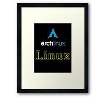 Archlinux Framed Print