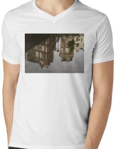 Amsterdam - Moody Canal Reflection in the Rain Mens V-Neck T-Shirt