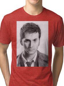 David Tennant Doctor Who No.10 Tri-blend T-Shirt