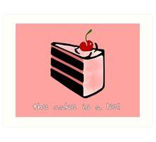 Portal, cake is a lie Art Print