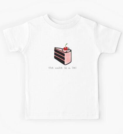 Portal, cake is a lie Kids Tee