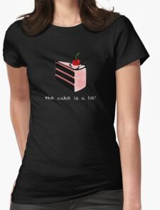 Portal, cake is a lie Womens Fitted T-Shirt