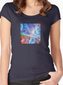 Ascending From A Dive Decorative Abstract  Art Women's Fitted Scoop T-Shirt