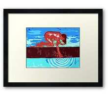 TOUCHING THE STREAM OF POSSIBILITIES Framed Print