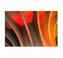 Orange and Peach modernist concrete Art Print