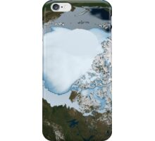 Planet Earth showing sea ice coverage in 1980. iPhone Case/Skin