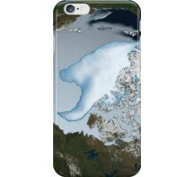 Planet Earth showing sea ice coverage in 2012. iPhone Case/Skin