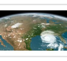 Panoramic view of planet Earth and the United States. Sticker