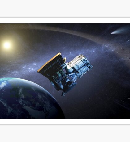 Artist's concept of the Wide-field Infrared Survey Explorer spacecraft. Sticker