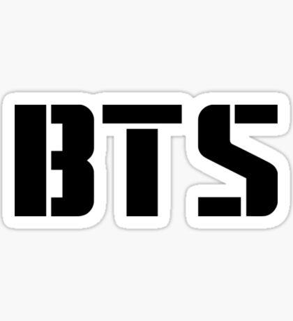 BTS Lettering.  Sticker