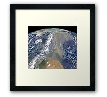 Dust heading west toward South America and the Gulf of Mexico. Framed Print