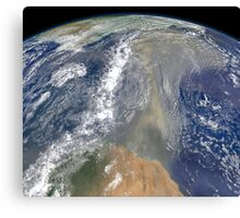 Dust heading west toward South America and the Gulf of Mexico. Canvas Print