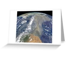 Dust heading west toward South America and the Gulf of Mexico. Greeting Card