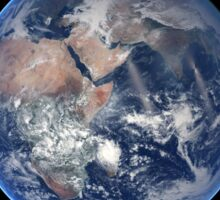 Composite image of the eastern hemisphere on planet Earth. Sticker