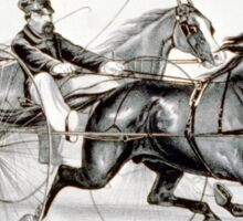 A hot race to the wire - Currier & Ives - 1887 Sticker