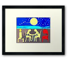 DINNER ON THE BEACH Framed Print