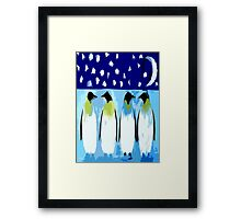 PENGUIN CONVERSATION Framed Print