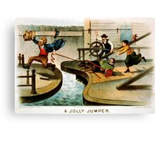 A jolly jumper - Currier & Ives - 1888 Canvas Print