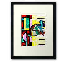 THE PIANO PLAYER Framed Print