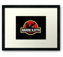 Jurassic Sloth! Framed Print